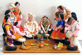 Image result for indian marriage paintings images
