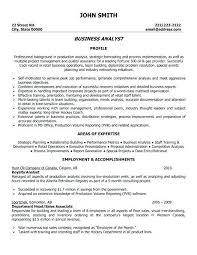 Quality Analyst Cv Business Analyst Resume Entry Level Entry Level Business Analyst