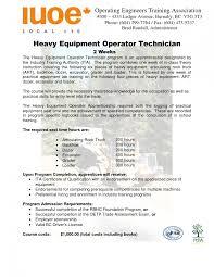 Resume For Heavy Equipment Operator Study Free Template Job
