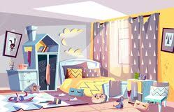 bedroom or living room kids bedroom in mess cartoon vector ilration messy bedroom of lazy child with tered toys