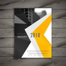 Abstract Business Brochure Template Annual Report Cover Page In