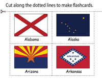 Flags of the world's nations vary in the number of colors, ranging from one color to more than ten. State Flags Of The United States Of America Worksheets