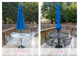 painting patio furnitureSpraypainting Outdoor Furniture  glitter  goat cheese