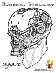 Small Picture Halo 4 Coloring Pages Locus Helmet Wow Believe It Color It