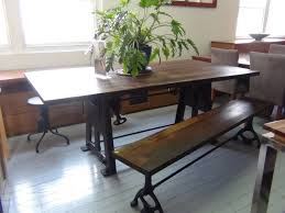 industrial kitchen table furniture. harmonious home industrial dining table and bench plus swivel stool incredible narrow sydney picture ideas using brown painted teak wood t kitchen furniture h