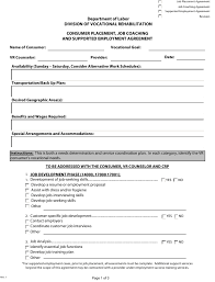 1 agreement letter sample writing tips. Delaware Consumer Placement Job Coaching And Supported Employment Agreement Form Download Fillable Pdf Templateroller