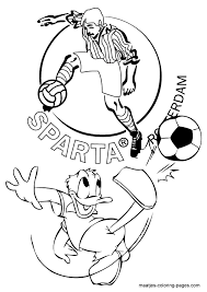 Sparta Donald Duck Kleurplaat