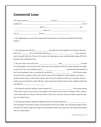 Commercial Lease Amazon Adams Commercial Lease Forms and Instructions LF24 1