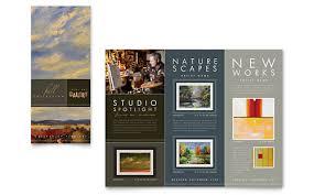 Microsoft Office Tri Fold Brochure Template Art Gallery Artist Tri Fold Brochure Template Design