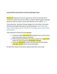 Cause Effect Essay Sample