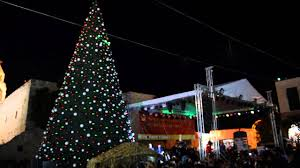 bethlehem lighting. Lighting Christmas Tree In Bethlehem Youtube