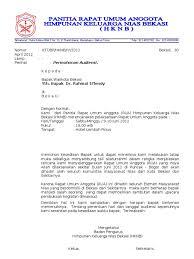 Surat yang dibuat oleh seseorang yang isinya menyangkut kepentingan pribadi, disebut surat prive Contoh Surat Audiensi Gubernur Contoh Surat