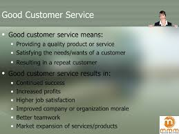 Great Customer Service Means Customer Service