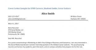 Sample Of A Professional Cover Letter Sample Cover Letters Unh Career And Professional Success