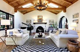 stylish chevron living room ideas white leather arms sofa sets black white chevron pattern rug brown