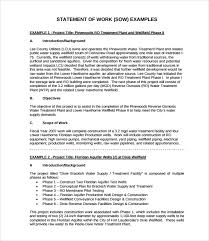 It Statement Of Work Sow Samples Under Fontanacountryinn Com