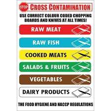 Cross Contamination Prevent Cross Contamination Self Adhesive Sign 230 X 160mm Printed