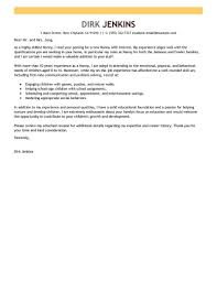 Best Nanny Cover Letter Examples Collection Of Solutions Cover