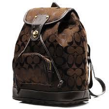 Coach Classic In Signature Medium Coffee Backpacks CBL