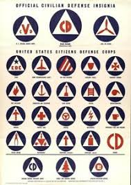 Military Insignia Chart Details About Bedroom Old House Civilian Defense Insignia Chart Patriotic Propaganda Poster