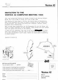 Csdb Vortex 42 Computer Meeting 13 15 May 1988