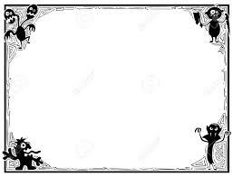 手描き漫画かわいいモンスターのシルエット イラスト ハロウィン フレームです
