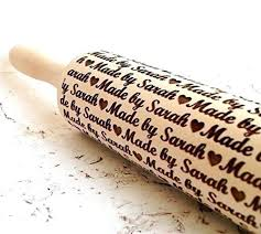 Patterned Rolling Pin Fascinating Personalized Embossing Rolling Pin Cookies Decorating Roller Wooden