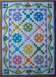 Quilts With Applique Borders Quilts With Multiple Borders Quilts ... & Blossom Thyme Quilt Stars In Pastel Colours I Love Pieced Quilts With  Applique In The Borders Adamdwight.com
