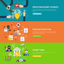 Bank Security Design Bank Security Horizontal Banners Set Download Free Vectors