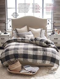 pottery barn spring 2018 d1 bryce buffalo check duvet cover king cal king charcoal