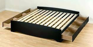 California King Bed Frame With Drawers Cal King Bed Frame With ...
