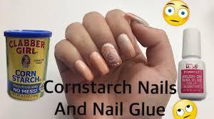 cornstarch nails and nail glue diy