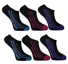skechers ultra sock. skechers ladies no show trainer liner socks 6pairs ultra sock