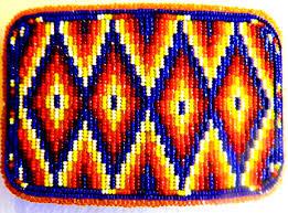 navajo bead designs.  Navajo Large Rectangular Shaped Navajo Beaded Belt Buckle And Bead Designs D