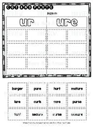Worksheet for (very) young learners who have just started reading. Ur Ure Sorts Cut And Paste Worksheets By Busy Bee Studio Tpt