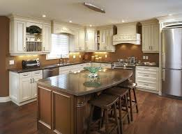 L Shaped Island Lighting White Country Kitchen With Butcher Block L