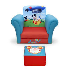 mickey mouse upholstered kids club chair and ottoman