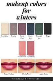 In my opinion, wearing makeup shades that make the most of your natural  coloring is the most important… | Makeup shades, Cool winter color palette,  Winter skin tone