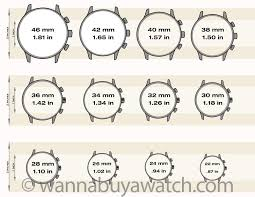 Watch Diameter Chart Watch Sizing Guide