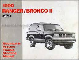 1990 ford ranger and bronco ii foldout wiring diagram original 1990 ford ranger and bronco ii electrical troubleshooting manual
