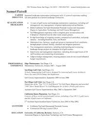 golf professional cover letter resume superintendent cover letter