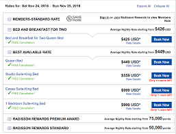 Club Carlson Redeem Chart Using Radisson Rewards For Family Travel 300 000 Point