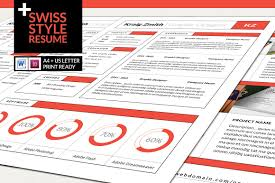 Styles Of Resumes Swiss Style Resume Resume Templates Creative Market 16