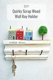 How To Make a Fun Wall Key Holder From Junk