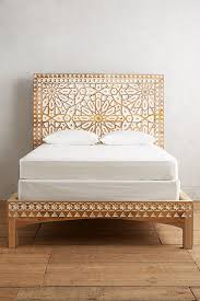 hand carved wood boho bed frame anthropologie | Home in 2019 ...