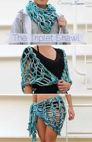 Arm Knitting Patterns Classy The Triplet Shawl An Arm Knitting Pattern By Laura Creating