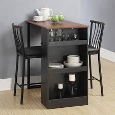 cheap furniture for small spaces. black walnut 3piece counterheight pub table set cheap furniture for small spaces