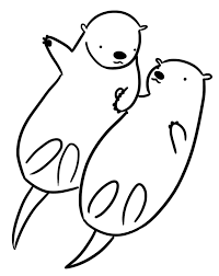 Small Picture Baby Otters Coloring Coloring Pages