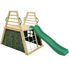 cooper climbing frame green slide