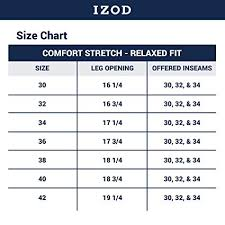 Izod Mens Comfort Stretch Denim Jeans Relaxed Fit
